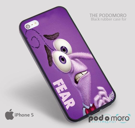 Inside Out Fear for iPhone 4/4S, iPhone 5/5S, iPhone 5c, iPhone 6, iPhone 6 Plus, iPod 4, iPod 5, Samsung Galaxy S3, Galaxy S4, Galaxy S5, Galaxy S6, Samsung Galaxy Note 3, Galaxy Note 4, Phone Case