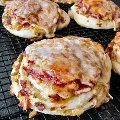 pizza rolls: think cinnamon rolls but pizza!