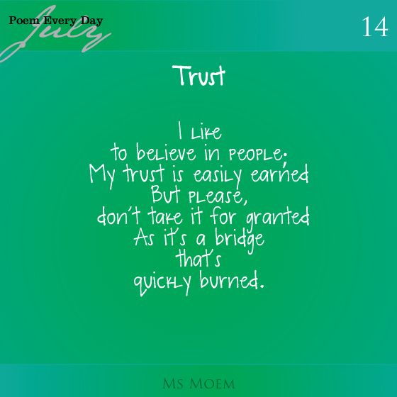 no trust in relationship poems poetry