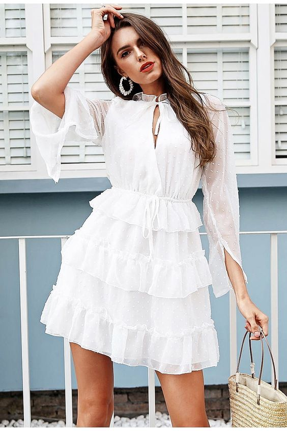 Mila Ruffle Dress FREE WORLDWIDE SHIPPING ON ALL ORDERS