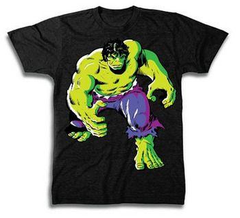The Incredible Hulk Angry Walk Purple Pants Adult Black T-Shirt by TVStoreOnline - Teenormous.com