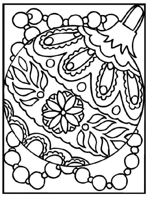 Christmas Ornament Coloring Page Free Pages From Crayola