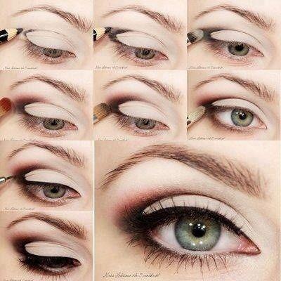 The magic triangle. - The Beauty Thesis: Makeup Tutorial, Pretty Eye, Eyeshadow, Eyemakeup, Smokey Eye, Green Eye, Makeup Idea