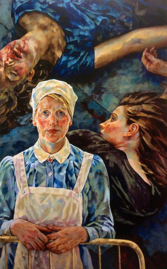 Wem die Stunde schlägt / For whom the bell tolls -  2010                                              Oil on dibond  - 231 x 141 cm          Für LENY VAN DAM :-)