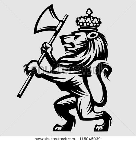 heraldic lion - stock vector | Logo, badges, typography ...