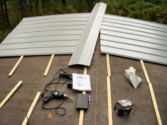 Metal Trailer Roofs : Mobile homes metal roof and white sheets on pinterest