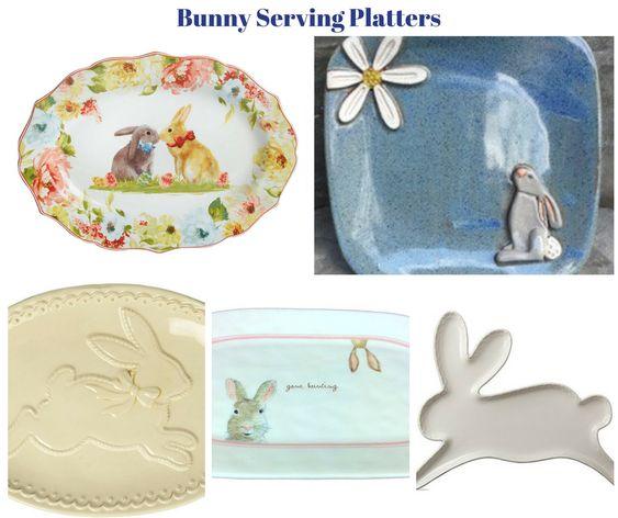 Bunny Serving Platters