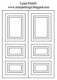 template for the door card