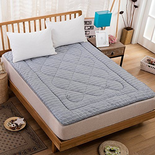 D Le Tatami Floor Mat Foldable Breathable 100 Cotton Mattress Topper Stereoscopic Quilting Mattress Soft Comfort Gray 1 Comfort Gray Cotton Mattress Mattress