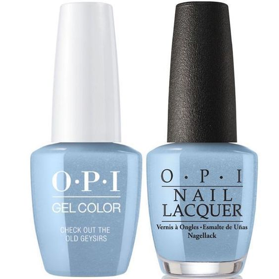 OPI GelColor + Matching Lacquer Check Out the Old Geysirs #I60