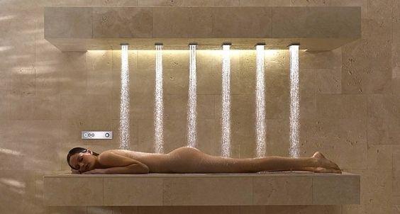 Horizontal shower. Talk amongst yourself.