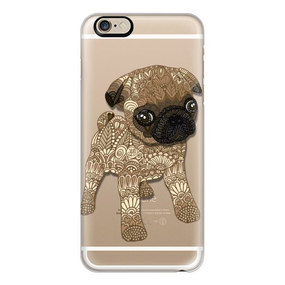 iPhone 6 Plus/6/5/5s/5c Case - Pug Puppy (£26) ❤ liked on Polyvore featuring accessories, tech accessories, phone cases, phones, iphone case, mess, iphone cover case e apple iphone cases