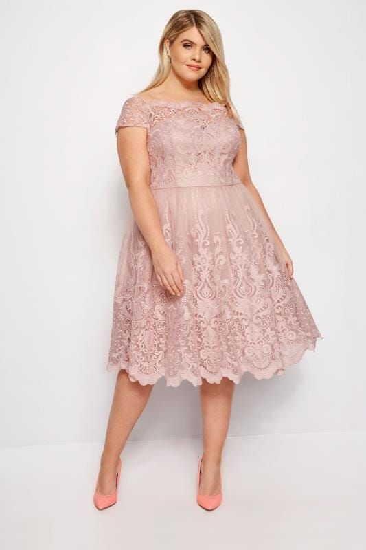 Plus Size Evening Dresses CHI CHI Blush Pink Liviah Dress in ...
