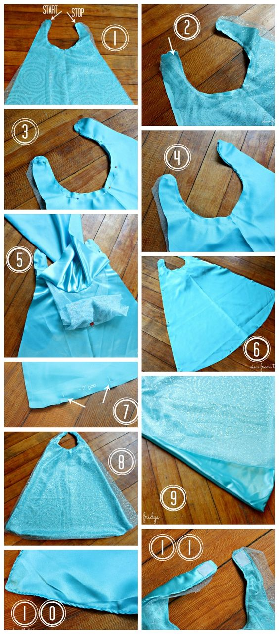 Easy Queen Elsa Cape Tutorial     View From The Fridge
