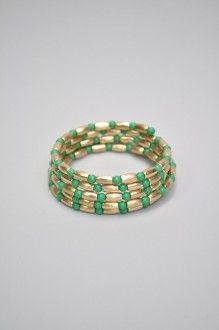 Gold And Color Beaded Wire Bracelet - Southern Flair Boutique
