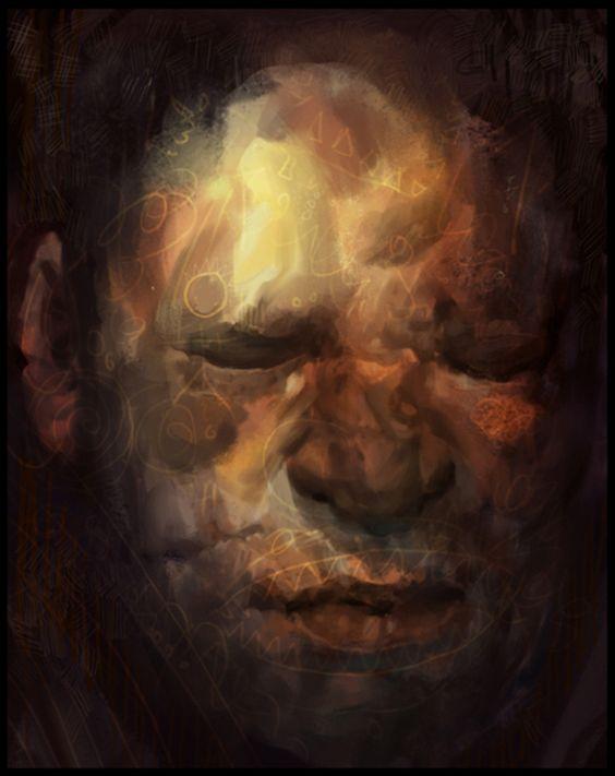 Eyes Closed Tight by Daniel Clarke, via Behance