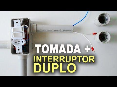 Instalacao De Interruptor Duplo Com Tomada Passo A Passo Youtube Interruptor Duplo Interruptor Como Fazer Instalacao Eletrica