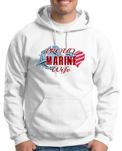 Marine Wife Hoodie by WilliamsDigitalStore on Etsy