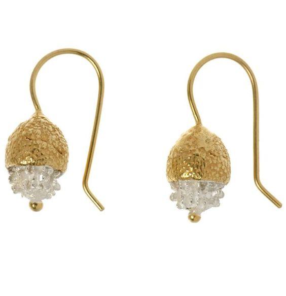 ana verdun - gold acorn earrings