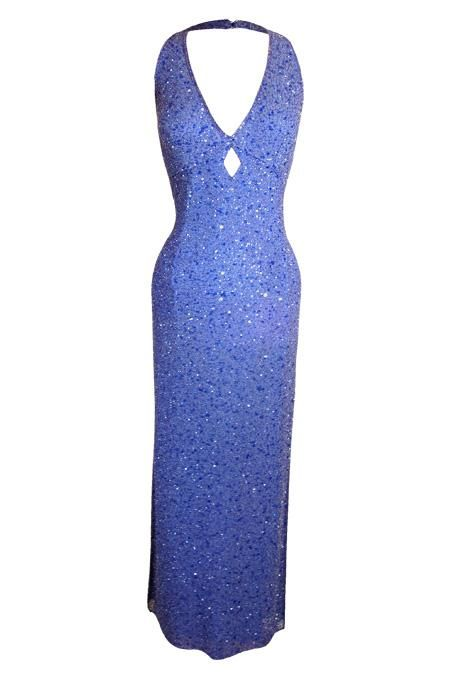 THAT SPECIAL DRESS: Scala - Lavender diamond halter gown.