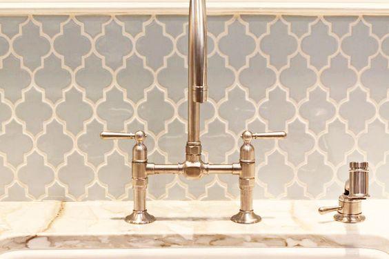 blue lantern tile backsplash for the home pinterest kitchen sink