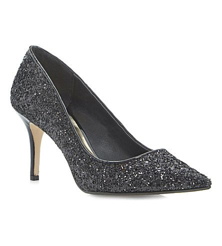 DUNE Alina mid-heel court shoes (Black-glitter