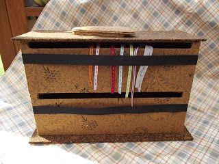 Les Boîtes de Moulinette : boîte à ruban à plusieurs étages