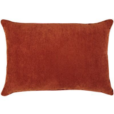 Bought (2) Burnt Orange / Rust pillows to accent my brown leather sofa! Perfect color! Dream ...