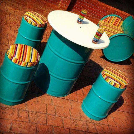 Gallon drum project  So cute! Love it!
