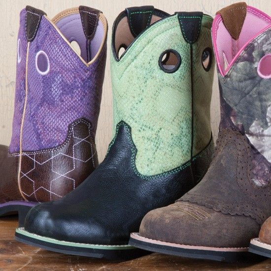 Ariat Ladies' Green Star Fatbaby Boots