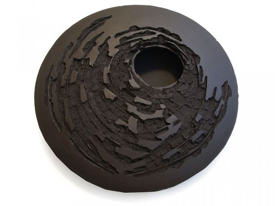 Kris Marubayashi, High-Fired Black Clay Sculpture