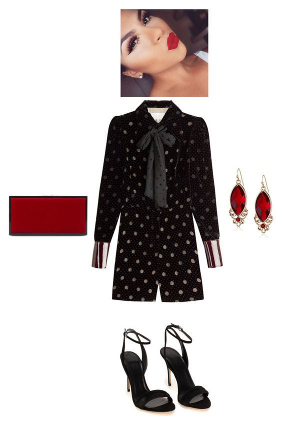 """""""Untitled #1575"""" by stephstyle76 ❤ liked on Polyvore featuring Maison Margiela, Jimmy Choo and 1928"""