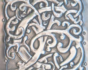 Letra inicial J estaño monograma por ARCHIVES en Etsy