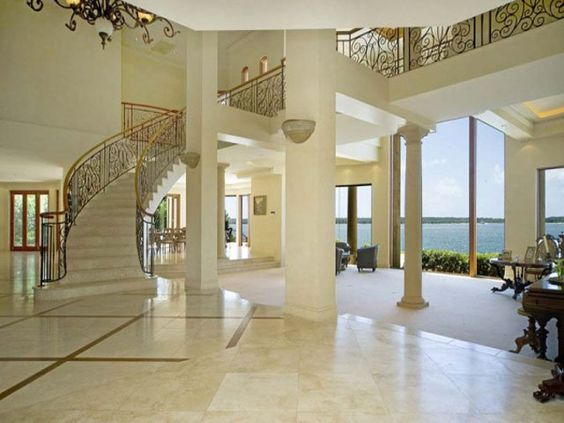 Grand entrance mega mansion home beautiful gold for Beautiful houses inside view
