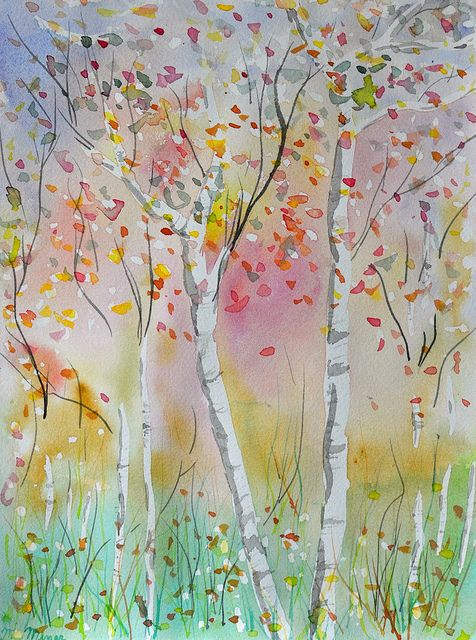 Fall Watercolor by MIKdotMIN, via Flickr