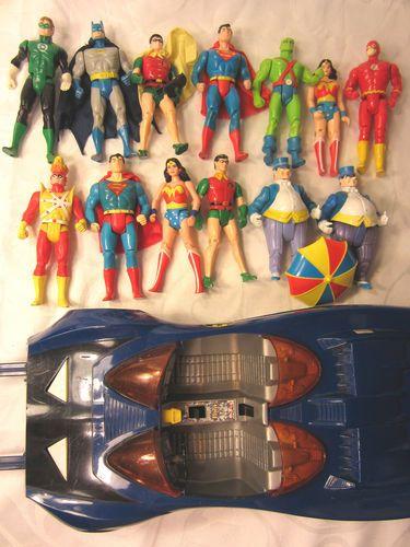 DC SUPER POWERS ACTION FIGURE LOT WONDER WOMAN BATMAN SUPERMAN JUSTICE LEAGUE