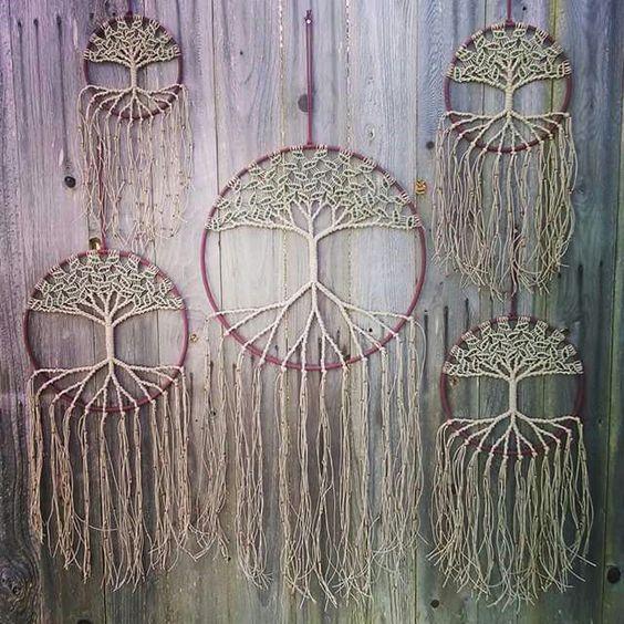 Beautiful #handmade #TreeofLife #dreamcatchers