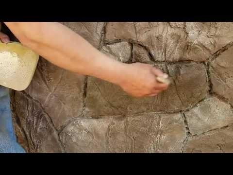 Como Hacer Piedras Planas Con Cemento Y Estampa Youtube Piso De Piedras Patio Con Piedras Cemento