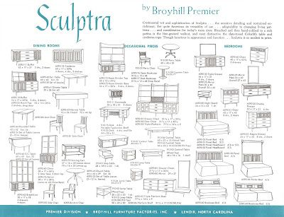Broyhill Premier Sculptra Brochure. One Of Each Please!!! | Home |  Pinterest | Mid Century, Mid Century Modern And Mid Century Furniture