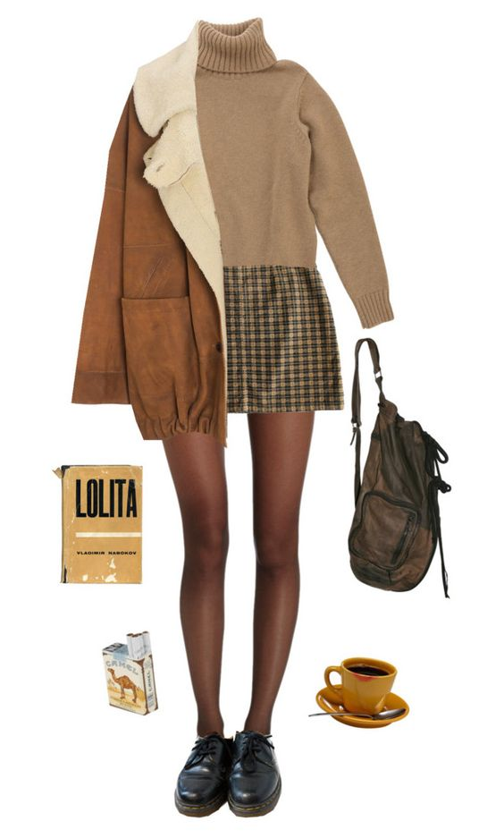 """""""heartache"""" by unpleasantunicorn on Polyvore featuring Wolford, Dr. Martens and Wunderkind"""
