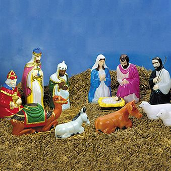 Nativity sets nativity and baby jesus on pinterest for Baby jesus christmas decoration