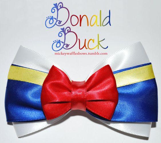 Donald Duck Hair Bow MickeyWaffles