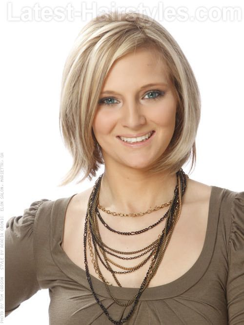 Here is one idea I like for my upcoming bob! I like the bold highlights!  Dimensional Diva Short Blonde Style