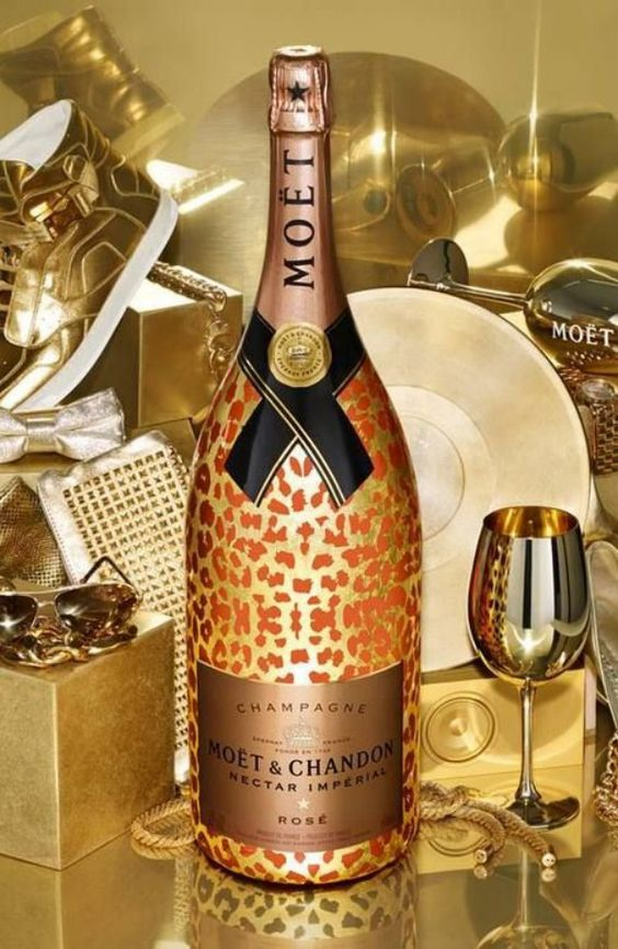 leopard print Moet champagne