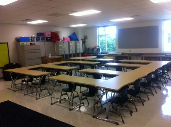 Classroom Decoration Desk Arrangements ~ Middle school desk arrangement bulletin boards door