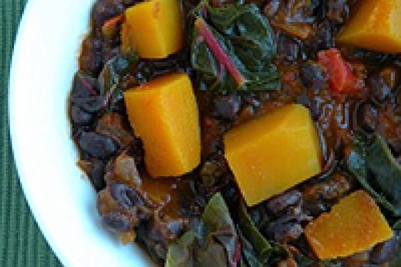 Black Bean Chili with Butternut Squash and Swiss Chard | Recipes to ...
