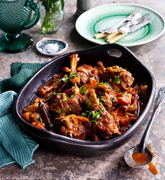 Slow cooked lamb shanks with orange and cinnamon recipe Yahoo better homes and gardens