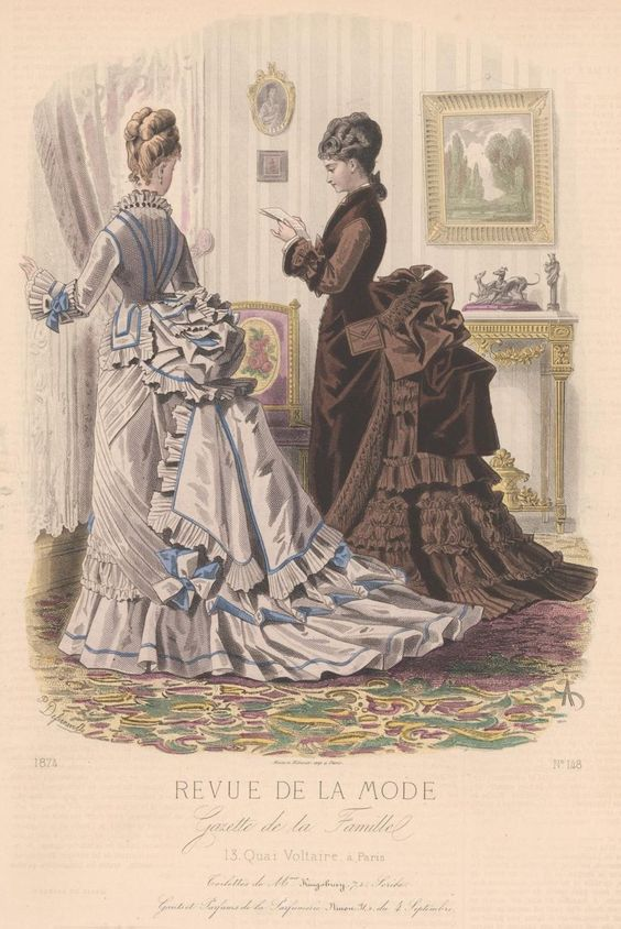 revue de la mode 1874 1874s fashion plates pinterest victorian ladies lady and victorian. Black Bedroom Furniture Sets. Home Design Ideas