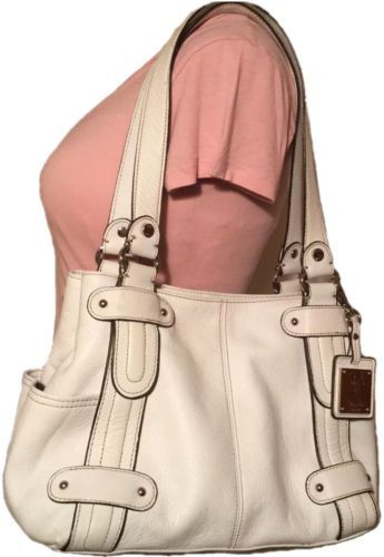 Tignanello-Handbag-White-Ivory-Leather