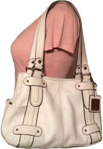 Tignanello-Handbag-White-Ivory-Leather